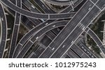aerial view of highway and... | Shutterstock . vector #1012975243