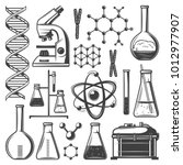 vintage laboratory research... | Shutterstock .eps vector #1012977907