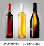classical wine bottle  vector... | Shutterstock .eps vector #1012989283