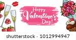 valentines day sale horizontal... | Shutterstock .eps vector #1012994947