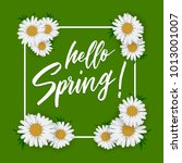 hello spring. vector... | Shutterstock .eps vector #1013001007