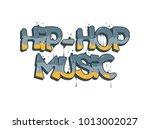 hip hop music illustration in... | Shutterstock .eps vector #1013002027