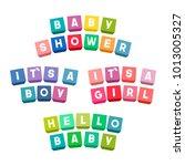 baby shower lettering on... | Shutterstock . vector #1013005327