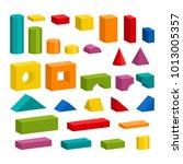 bright colorful wooden blocks... | Shutterstock . vector #1013005357