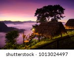 cabins  shelters and stars at... | Shutterstock . vector #1013024497