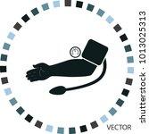 measurement of arterial blood... | Shutterstock .eps vector #1013025313