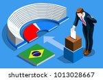 brazil election voting concept...   Shutterstock .eps vector #1013028667