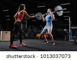 sport  fitness  teamwork and... | Shutterstock . vector #1013037073