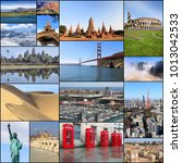 collection of world travel... | Shutterstock . vector #1013042533