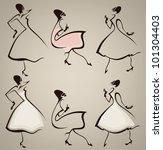 new look  vector collection of... | Shutterstock .eps vector #101304403
