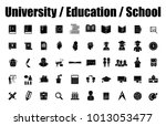 set vector icons in flat design ... | Shutterstock .eps vector #1013053477