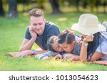 happy family spend time... | Shutterstock . vector #1013054623