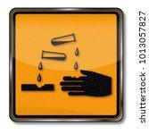 danger of corrosive substances  | Shutterstock . vector #1013057827