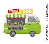 fast street food caravan... | Shutterstock . vector #1013060287