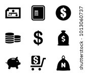 wealth icons. set of 9 editable ... | Shutterstock .eps vector #1013060737