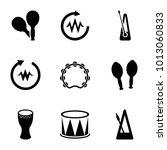 rhythm icons. set of 9 editable ...   Shutterstock .eps vector #1013060833