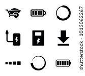 load icons. set of 9 editable... | Shutterstock .eps vector #1013062267