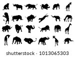A Safari Animal Silhouette Set...