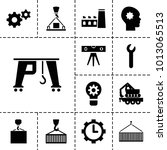 engineering icons. set of 13... | Shutterstock .eps vector #1013065513