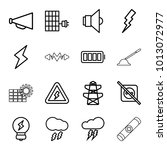 electricity icons. set of 16... | Shutterstock .eps vector #1013072977