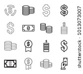 income icons. set of 16... | Shutterstock .eps vector #1013073007