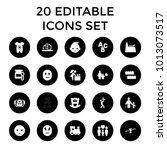 child icons. set of 20 editable ...   Shutterstock .eps vector #1013073517