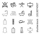 cloth icons. set of 16 editable ... | Shutterstock .eps vector #1013074507