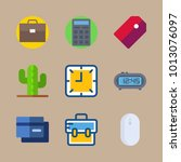 icon business with calculator ... | Shutterstock .eps vector #1013076097