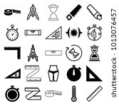 measure icons. set of 25... | Shutterstock .eps vector #1013076457