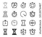 timer icons. set of 16 editable ...   Shutterstock .eps vector #1013076487