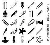 ink icons. set of 25 editable... | Shutterstock .eps vector #1013076547