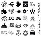 teamwork icons. set of 25... | Shutterstock .eps vector #1013076883
