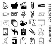 clip icons. set of 25 editable... | Shutterstock .eps vector #1013078593