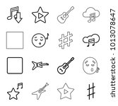 song icons. set of 16 editable... | Shutterstock .eps vector #1013078647