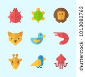 icons about animals with fox ... | Shutterstock .eps vector #1013082763
