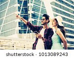 couple asian travelers are...   Shutterstock . vector #1013089243