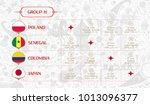 match schedule group h  flags... | Shutterstock .eps vector #1013096377