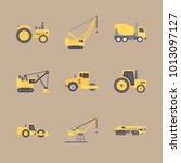 icon construction machinery... | Shutterstock .eps vector #1013097127