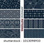 japanese new pattern seamless... | Shutterstock .eps vector #1013098933