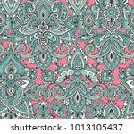 vector seamless pattern with... | Shutterstock .eps vector #1013105437