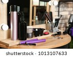 professional hairdresser set on ... | Shutterstock . vector #1013107633