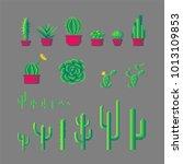 pixel art different types of... | Shutterstock .eps vector #1013109853