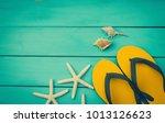 accessory summer on vintage...   Shutterstock . vector #1013126623