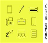 business linear icon set.... | Shutterstock .eps vector #1013136493