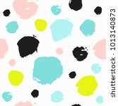seamless pattern with brush... | Shutterstock .eps vector #1013140873