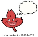 happy leaf cartoon | Shutterstock . vector #101314597