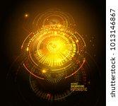 sci fi futuristic user... | Shutterstock .eps vector #1013146867