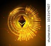 abstract technology ethereum.... | Shutterstock .eps vector #1013147407