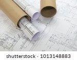 plans of building | Shutterstock . vector #1013148883