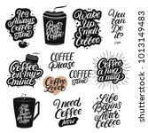 set of hand drawn lettering... | Shutterstock . vector #1013149483